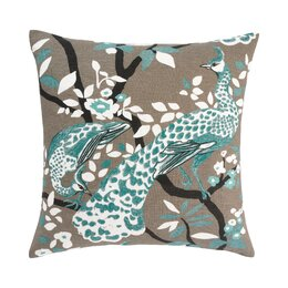 Peacock Azure Pillow Cover