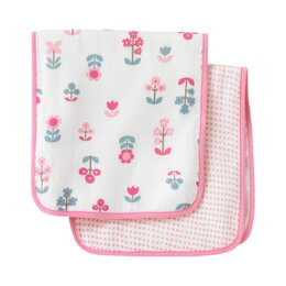Rosette Blossom Burp Cloth (Set of 2)
