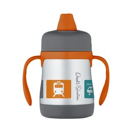 Transportation 7 oz Insulated Soft Spout Sippy Cup