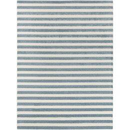 Petite Stripe Azure & Pearl Rug