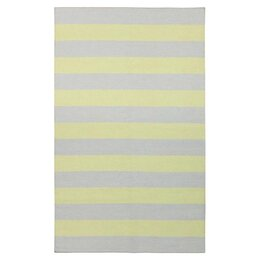 Draper Stripe Dove & Lemon Rug