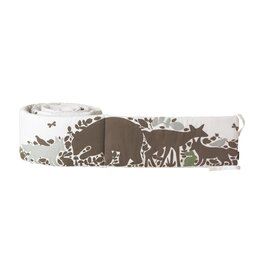 Woodland Tumble Appliqué Canvas Bumper