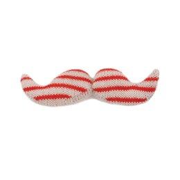 Giant Mustache- White/Coral