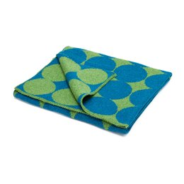 Graphic Dot Lapis & Lime Blanket
