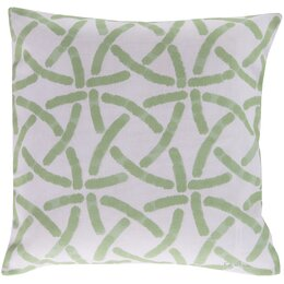 Celtic Trellis Celery Outdoor Pillow