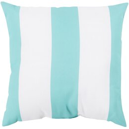 Awning Stripe Aqua Outdoor Pillow