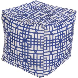 Lattice Marine Pouf Ottoman