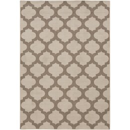 Modern Trellis Smoke Outdoor Rug