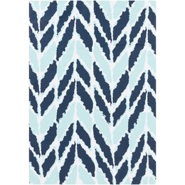 Arrow Aqua Outdoor Rug