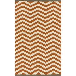Chevron Chestnut Outdoor Rug