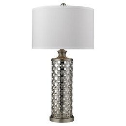 "Lattice 32"" H Table Lamp with Drum Shade"