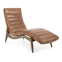 Hans Leather Chaise