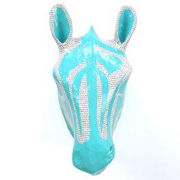 Zebra Sky Papier-Mâché Head Wall Décor