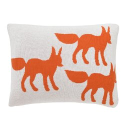 Foxes Knitted Boudoir Pillow