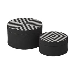 Chevron Round Box