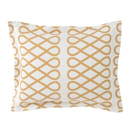 Arabesque Ochre Sham (Set of 2)