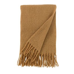 Mohair Solid Camel Throw