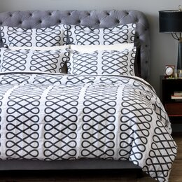 Arabesque Ink Duvet Cover