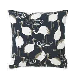 Winter Crane Pillow