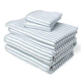 Mini Stripe 6 Piece Towel Set