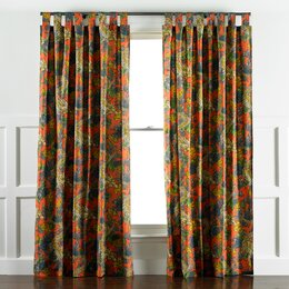 Ming Dragon Persimmon Curtain Panels