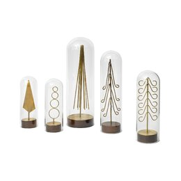 Modern Brass Forest Tree (Set of 6)