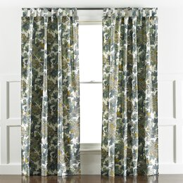 Ming Dragon Curtain Panel in Midnight