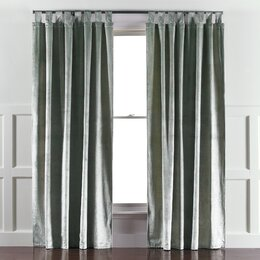 Etched Velvet Mist Curtain Panels