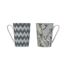 Monochrome Mug Set (Set of 4)