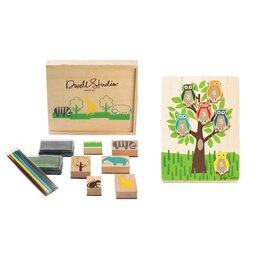 Zoo Stamp/Owls Puzzle Set