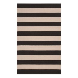Draper Stripe Ink Outdoor Rug