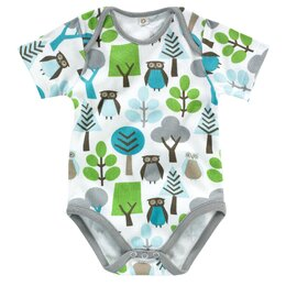 Owls Short Sleeve Bodysuit