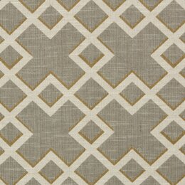 Shadow Trellis Fabric - Citrine