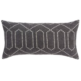Dotted Trellis Charcoal Pillow Cover