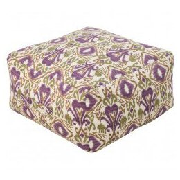 Ikat Outdoor Pouf