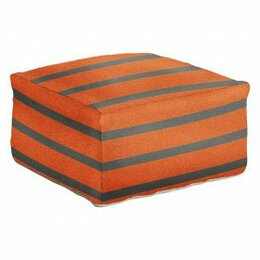 Stripe Pumpkin Pouf