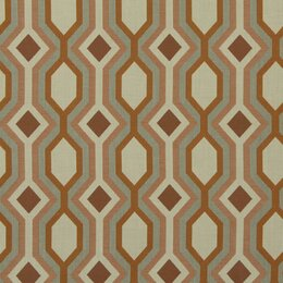 Diamond Vista Fabric - Tangerine