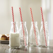 <strong>Vintage Dairy Bottle Set (Set of 4)</strong>