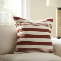 Edie Wool Pillow Cover, Red