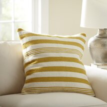 Edie Wool Pillow Cover, Canary