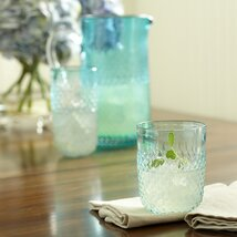 <strong>Hobnail Stemless Glasses, Pool (Set of 4)</strong>