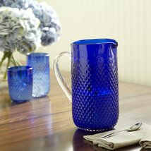 <strong>Hobnail Pitcher, Blue</strong>