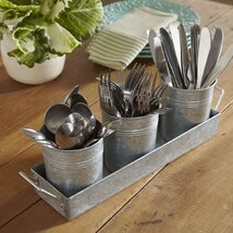 <strong>Galvanized Utensil Caddy</strong>