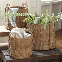 Natural Palm Braided Baskets