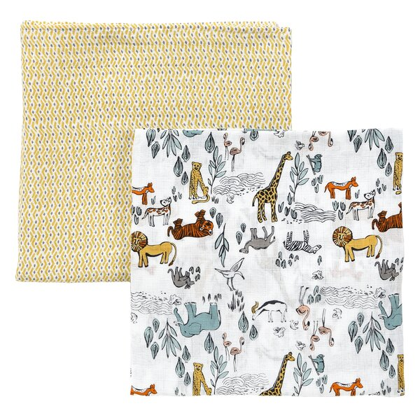 DwellStudio Safari Swaddle Blanket