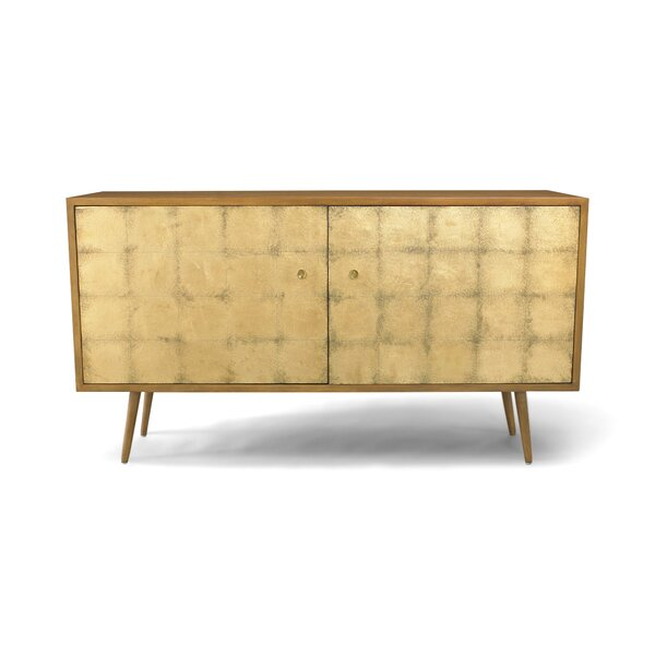 DwellStudio Franklin Gold Leaf Media Cabinet