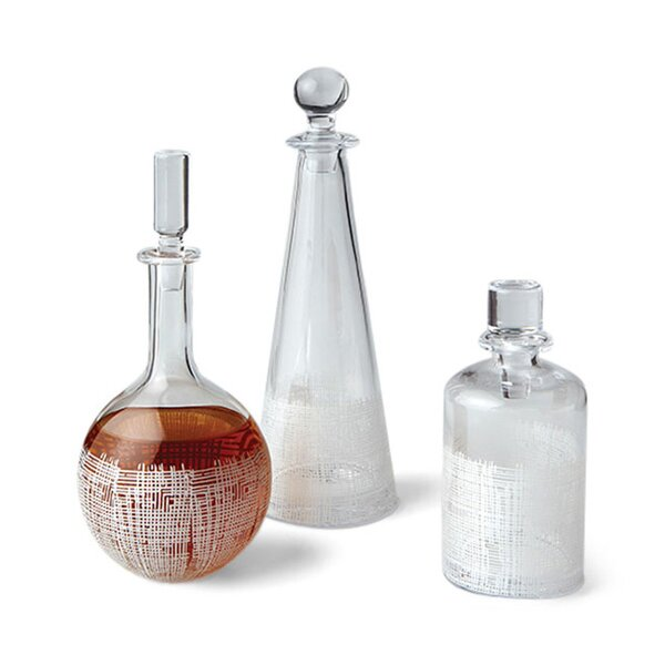 DwellStudio Crosshatch Globe White Decanter