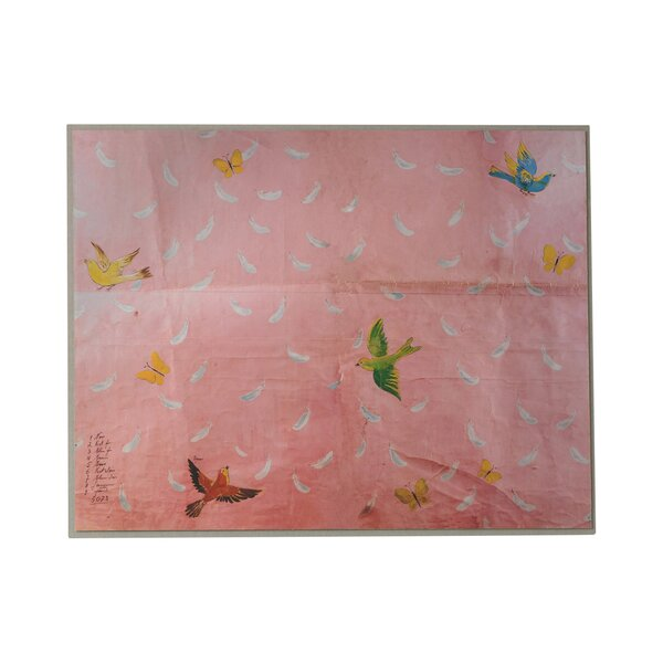DwellStudio Paule Marrot Feathers Artwork