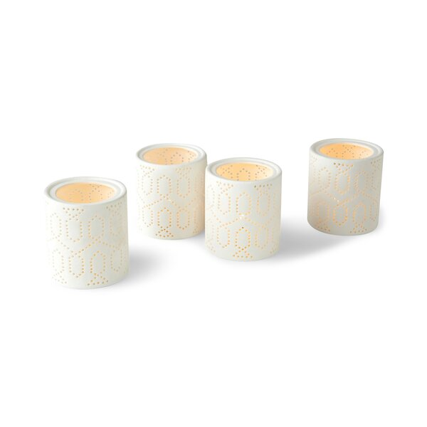 DwellStudio Dotted Trellis Votives (Set of 4)