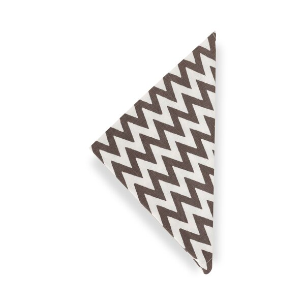 DwellStudio Chevron Charcoal  Napkin